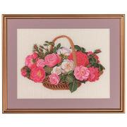 """Набор для вышивания крестом Eva Rosenstand """"Розы в корзине"""""""