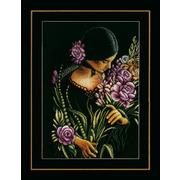 """Набор для вышивания крестом LANARTE """"Woman & flowers"""""""
