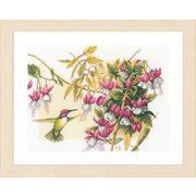 """Набор для вышивания крестом LANARTE """"Colibri & flowers"""""""