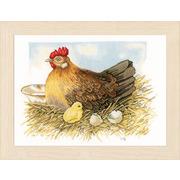 """Набор для вышивания крестом LANARTE """"Mother hen"""""""