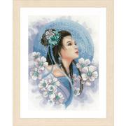 """Набор для вышивания крестом LANARTE """"Asian lady in blue"""""""