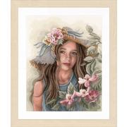 """Набор для вышивания крестом LANARTE """"Маленькая девочка в шляпе"""""""