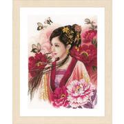 """Набор для вышивания крестом LANARTE """"Asian lady in pink"""""""