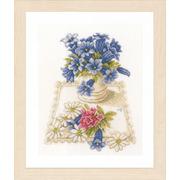 """Набор для вышивания крестом LANARTE """"Blue flowers"""""""
