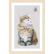 """Набор для вышивания крестом LANARTE """"Forest cat"""""""
