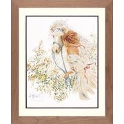 """Набор для вышивания крестом LANARTE """"Horse And Flowers"""""""