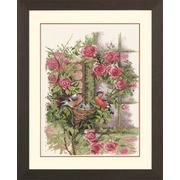 """Набор для вышивания крестом LANARTE """"Nesting Birds In Rambler Rose"""""""