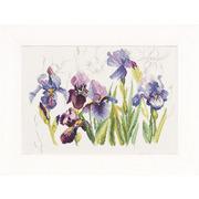 """Набор для вышивания крестом LANARTE """"Tripych Blue Flowers - Irisses"""""""