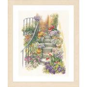 """Набор для вышивания крестом LANARTE """"Flower stairs"""""""
