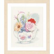 """Набор для вышивания крестом LANARTE """"Flowers in teapot"""""""