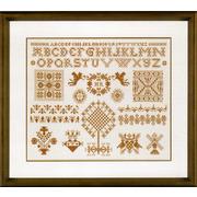 """Набор для вышивания крестом LANARTE """"Sampler in Bronze"""""""