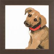 """Набор для вышивания крестом LANARTE """"Adorable puppy"""""""