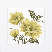 """Набор для вышивания крестом LANARTE """"Лимонно-зеленый цветок"""""""