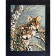 """Набор для вышивания крестом LANARTE """"Wolves"""""""