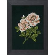 """Набор для вышивания крестом LANARTE """"Roses on black"""""""
