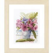 """Набор для вышивания крестом LANARTE """"Flowers in Bucket"""""""