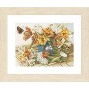 """Набор для вышивания крестом LANARTE """"Daffodils-Tulips"""""""