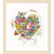 """Набор для вышивания крестом LANARTE """"A heart of flowers"""""""