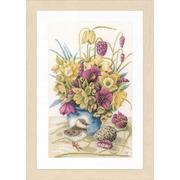 """Набор для вышивания крестом LANARTE """"Flowers & lapwing"""""""