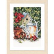 """Набор для вышивания крестом LANARTE """"Watering can & birdhouse"""""""