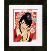 """Набор для вышивания крестом LANARTE """"Asian flower girl"""""""
