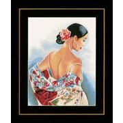 """Набор для вышивания крестом LANARTE """"Flower scarf"""""""