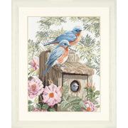 """Набор для вышивания крестом LANARTE """"Garden Bluebirds"""""""