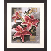 """Набор для вышивания крестом LANARTE """"Composition Of Pink Lilies"""""""