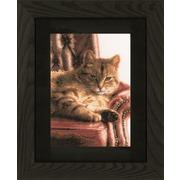 """Набор для вышивания крестом LANARTE """"Отдыхающий кот"""""""