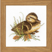 """Набор для вышивания крестом LANARTE """"Duckling at rest"""""""