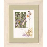 "Набор для вышивания крестом LANARTE ""Lavender field with butterfly"""
