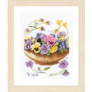 """Набор для вышивания крестом LANARTE """"Violets"""""""