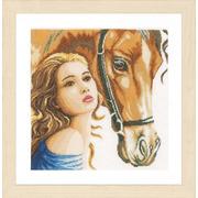 """Набор для вышивания крестом LANARTE """"Woman and horse"""""""
