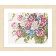 """Набор для вышивания крестом LANARTE """"Pretty bouquet of flowers"""""""