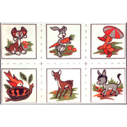 """Канва/ткань с нанесенным рисунком Gobelin-L """"Детские картинки"""", 6 картинок"""