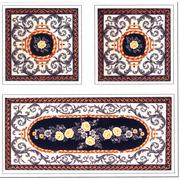 """Канва/ткань с нанесенным рисунком Gobelin-L """"Дорожка с орнаментом + подушка"""""""