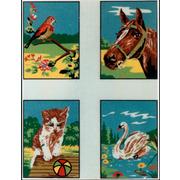 """Канва/ткань с нанесенным рисунком Gobelin-L """"Детские сюжеты"""", 4 картинки"""