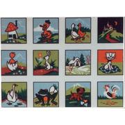 """Канва/ткань с нанесенным рисунком Gobelin-L """"Детские картинки"""", 12 картинок"""