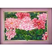 """Набор для вышивания лентами Каролинка """"Розовые хризантемы"""""""