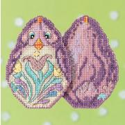 """Набор для вышивания MILL HILL """"Фиолетовый цыпленок"""" Jim Shore"""