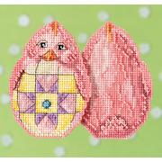 """Набор для вышивания MILL HILL """"Розовый цыпленок"""" Jim Shore"""
