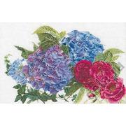 """Набор для вышивания крестом Thea Gouverneur """"Гортензии и розы"""""""