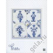 """Набор для вышивания крестом Thea Gouverneur """"Старинная плитка, цветы в вазе"""""""
