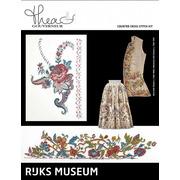 """Набор для вышивания крестом Thea Gouverneur """"Музей Rijks """"Юбка c. 1700-1800 / Жилет c. 1730-1739"""""""""""