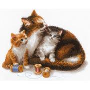 """Набор для вышивания крестом Риолис """"Кошка с котятами"""""""