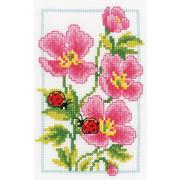 """Набор для вышивания крестом Vervaco """"Розовая герань"""""""