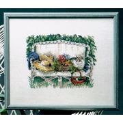 """Набор для вышивания крестом Oehlenschlager """"Кошка в саду"""""""