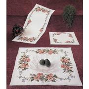 """Набор для вышивания крестом Oehlenschlager салфетки """"Розы и бабочки"""""""