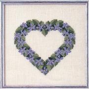 """Набор для вышивания крестом Oehlenschlager """"Сердце из фиалок"""""""