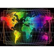 """Набор для выкладывания мозаики Алмазная живопись """"Карта мира"""""""